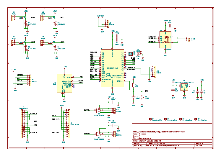 Schematic of the motor driver board.